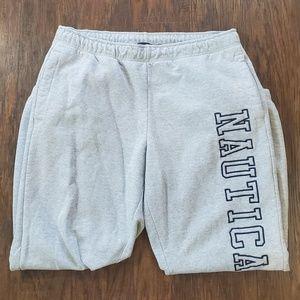 Nautica Gray Spellout Jogger Sweatpants Men's XL